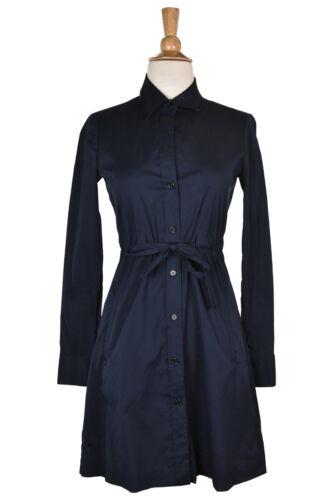Theory Women Dresses Shirt Dress 0 Blue Cotton