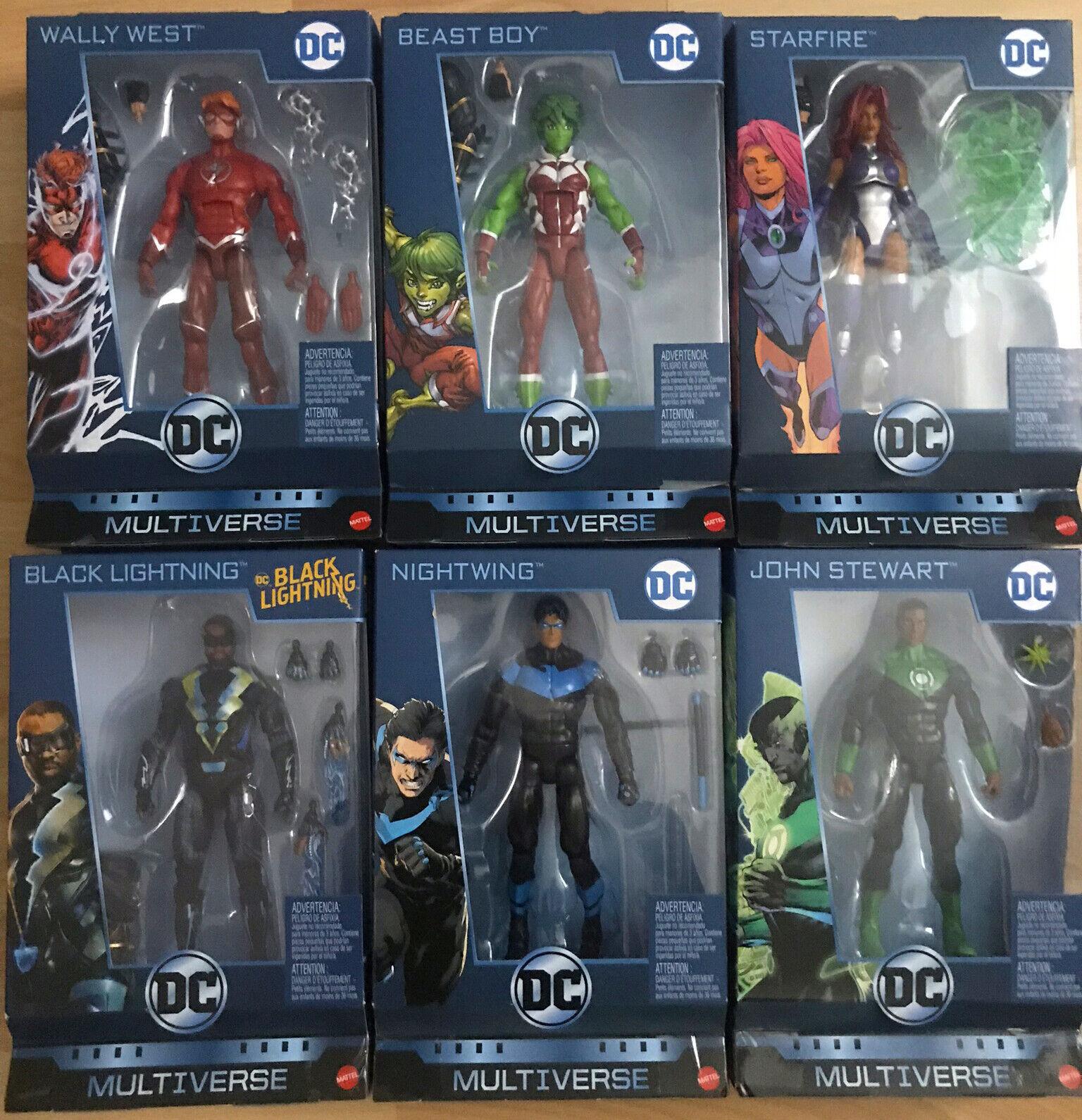 DC Multiverse Wave 11 CNC Ninja Batman  Nuevo y Sellado  Wally West, John Stewart