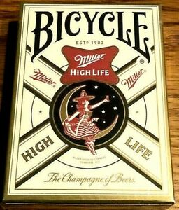 Bicycle-Miller-High-Life-Playing-Cards-Limited-Edition-RARE-amp-FACTORY-SEALED