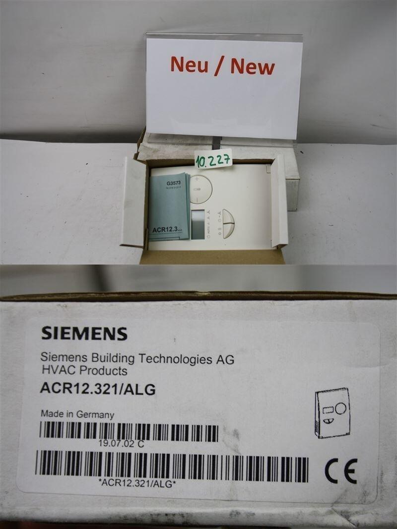 Siemens acr12.321/alg ventilateur régulateur de de de température ambiante régime HVAC acr12.321 d71c7a