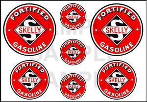 1 1/2 3/4 INCH SKELLY GASOLINE MODEL GAS STATION BUILDING SIGN DECALS STICKER R