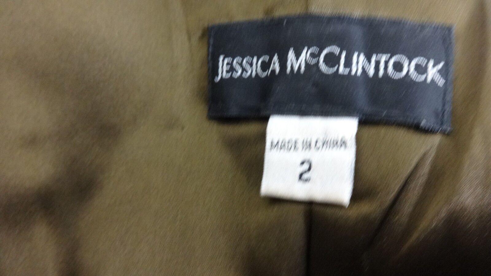 JESSICA MCCLINTOCK WOMENS METALLIC BROWN STRAPLES… - image 4