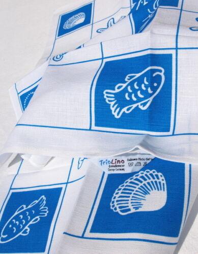 2x vaisselle foulards maritime Bâton qui cuisine halbleinen foulards coquillages mer étoile de mer