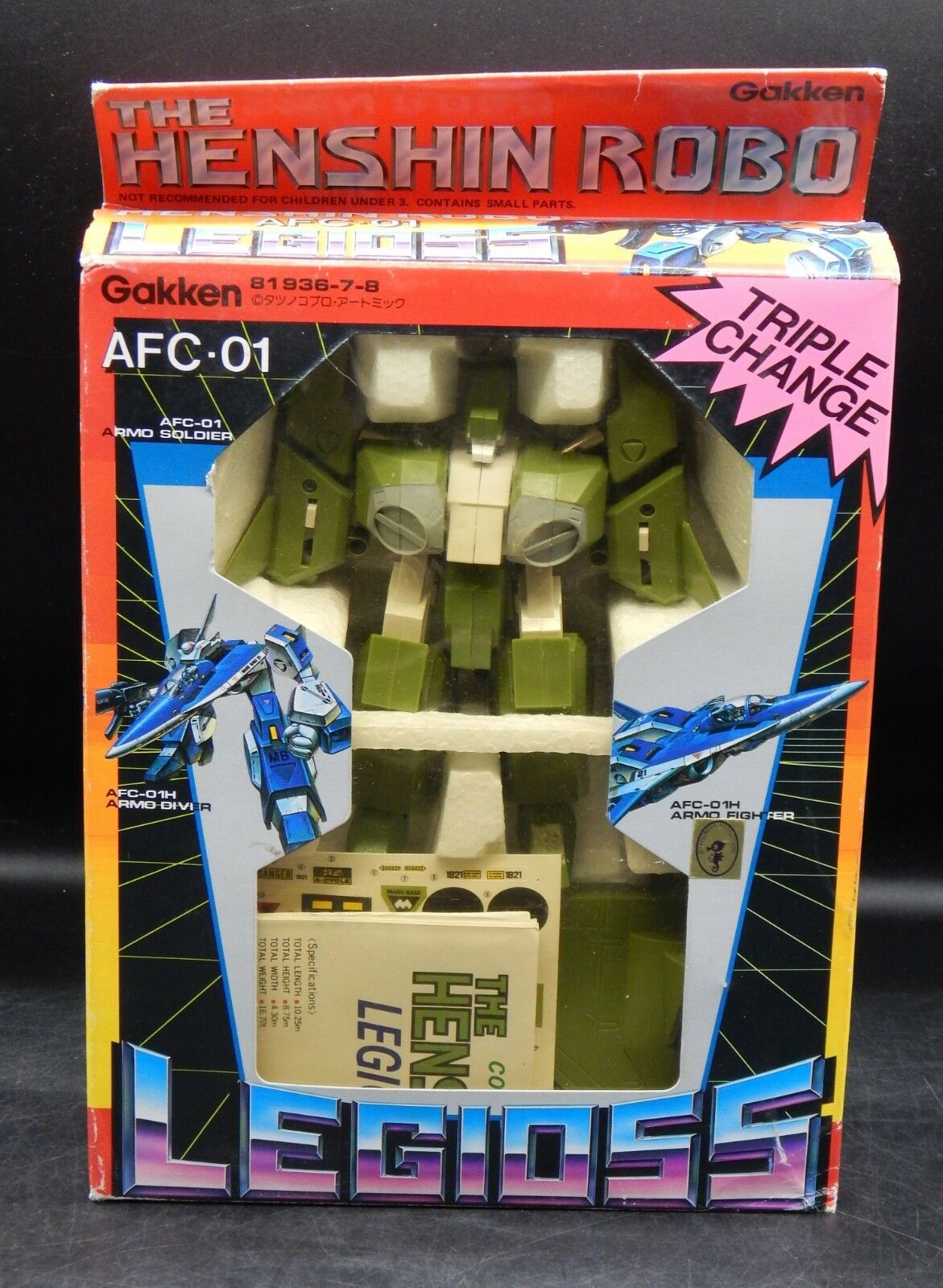 Original Vintage Gakken  mars Base Alpha Fighter Triple Changer Robotech Mospeada  économiser jusqu'à 80%