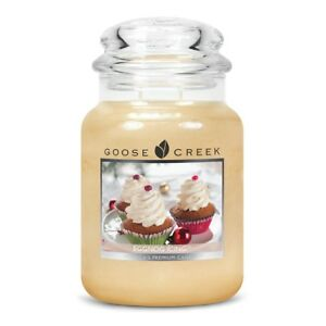 EGGNOG-ICING-LARGE-GOOSE-CREEK-CANDLE-JAR-24-OZ-CHRISTMAS-NEW-YEAR-SCENT