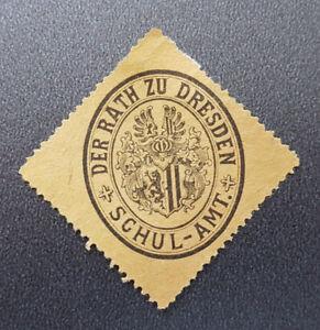 Siegelmarke-Vignette-DER-RATH-ZU-DRESDEN-SCHUL-AMT-8171-5