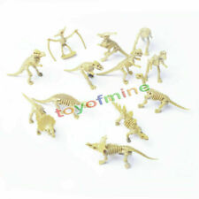12X Various Plastic Dinosaurs Fossil Skeleton Dino Figures Kids Toy Gift Nice HG
