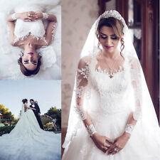 New White/Ivory Lace Bridal Gown Wedding Dress Custom Size:6/8/10/12/14/16/18/20