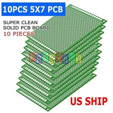 10x Double Side 5x7cm PCB Strip Board Printed Circuit Prototype Track S4f1