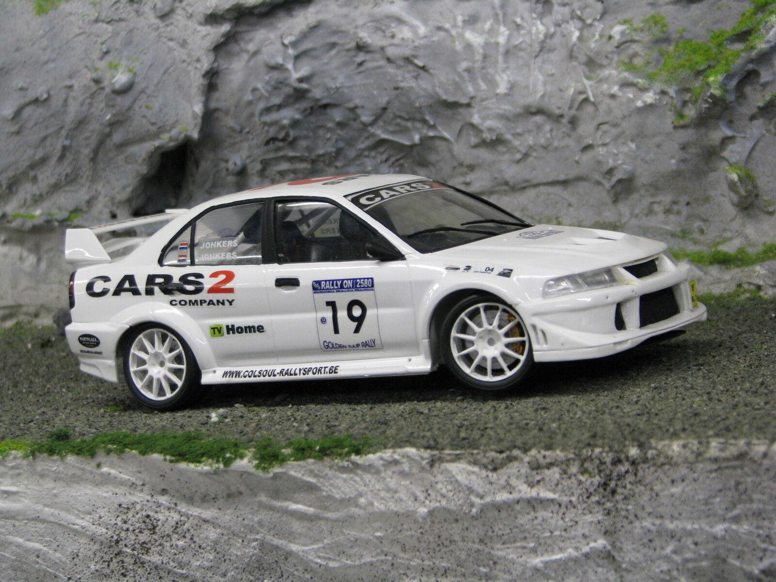 QSP Mitsubishi Lancer Evo 6.5 1 24 Jonkers   Jonkers golden Tulip Rally 2003