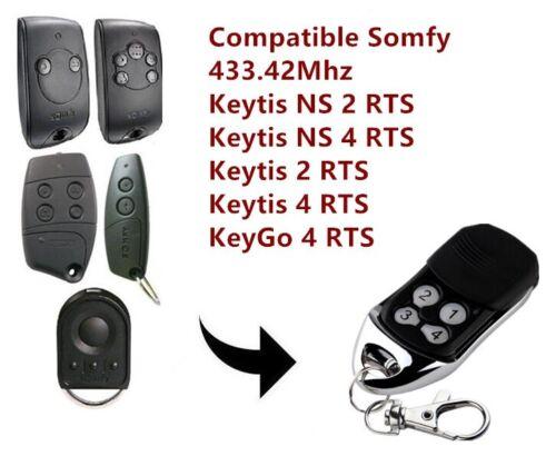 Somfy KEYGO 4 RTS Kompatibel Handsender Ersatz sender 433,42Mhz