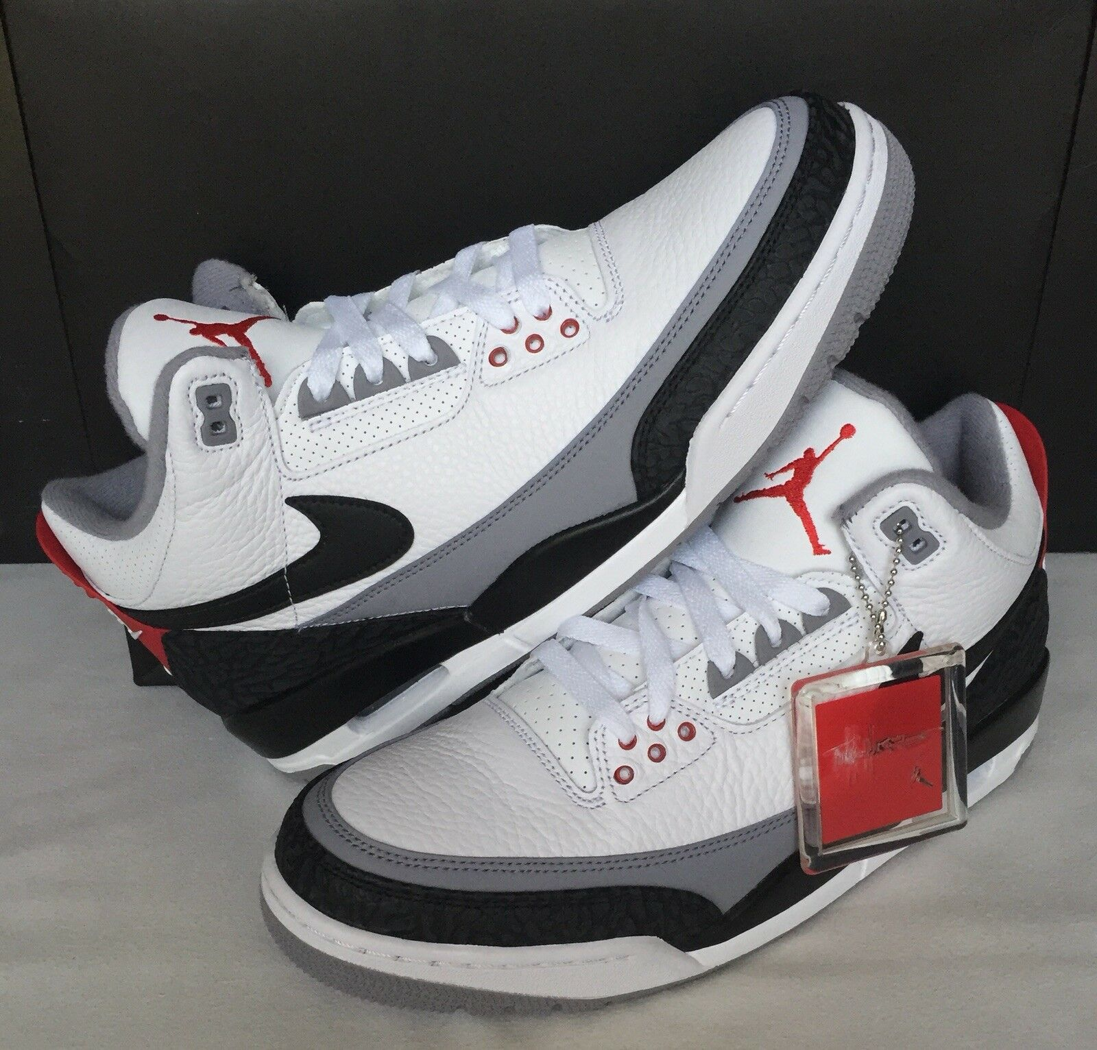 Nike Air Jordan Retro 3 Tinker NRG White/Black/Fire Red AQ3835 160 Men Size 11