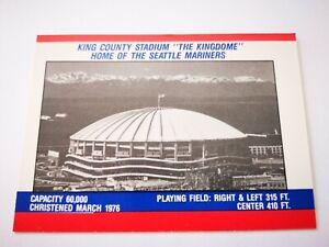 "Fleer 1988 carte card Baseball MLB US NM+/M ""The Kingdome"" Seattle Mariners"