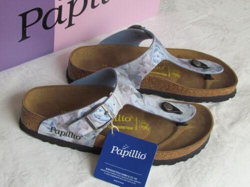 Nouveau PAPILLIO Gizeh Femme Soyeux Rose Bleu Toe post Mules Sandales Taille 2.5 EU 35
