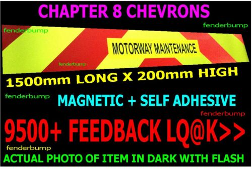 CHAPTER 8 STICKER REFLECTIVE CHEVRONS FORKLIFT TRUCK CHERRY PICKER BASKET SIGN