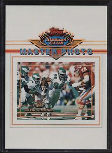1993-Topps-Stadium-Club-5x7-Master-Photo-Clyde-Simmons-Philadelphia-Eagles