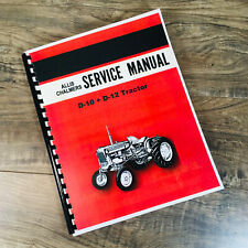 Allis Chalmers D10 D12 Tractor Factory Service Manual Repair Shop With Supplement