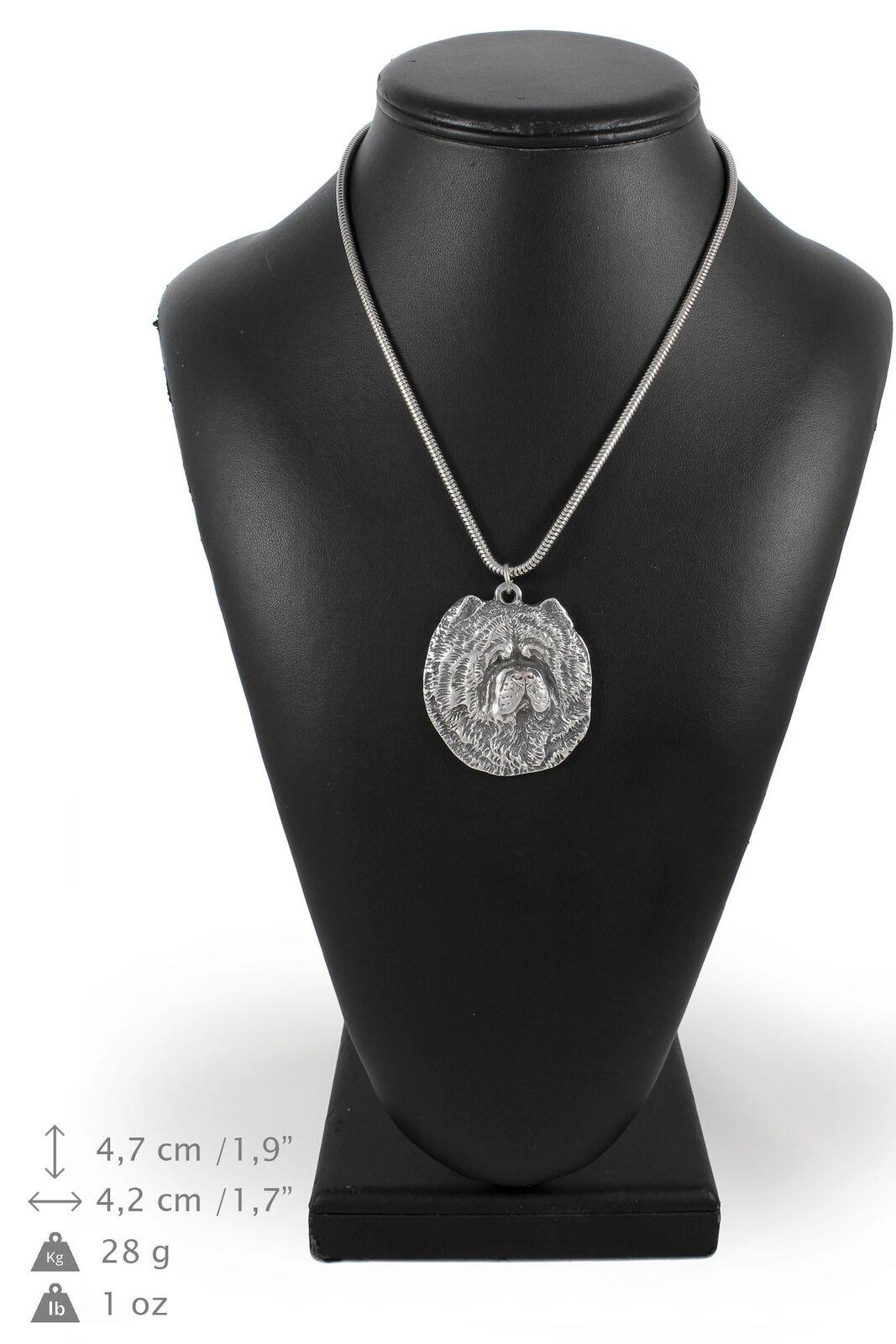 Chow Chow - silver plaqué collier sur une cordon en silver Art Dog FR