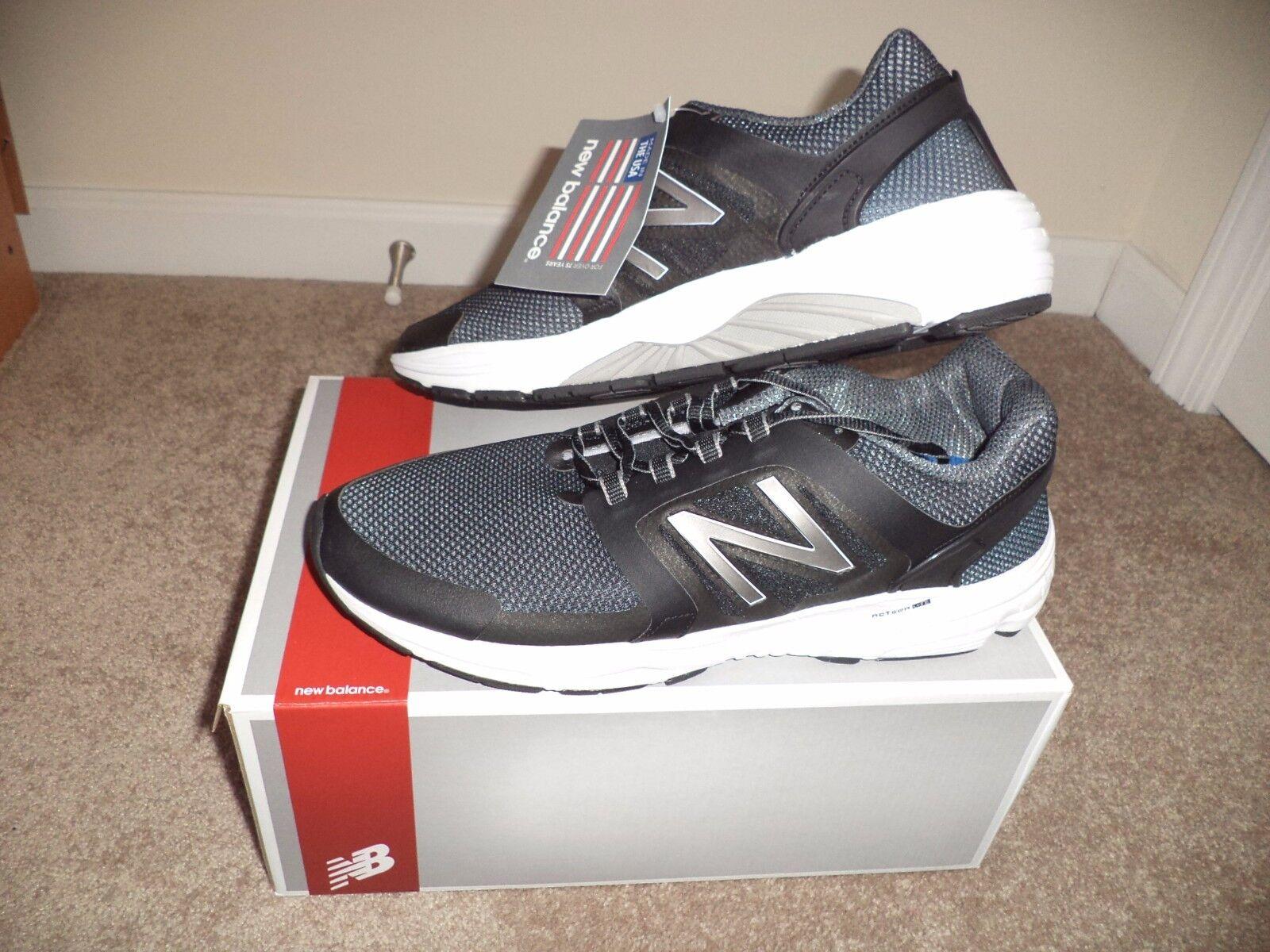 New Balance corrientes m3040bk1 control óptimo zapatos corrientes Balance de los hombres de SZ 11 m, negro, blanco 61aba1