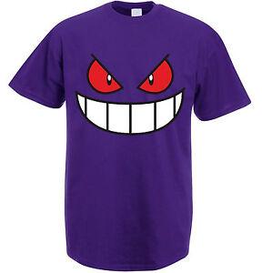 Gengar-Face-Pokemon-Tv-Show-Catch-Em-All-Poke-Tee-Shirt-Top-UNISEX-T-SHIRT
