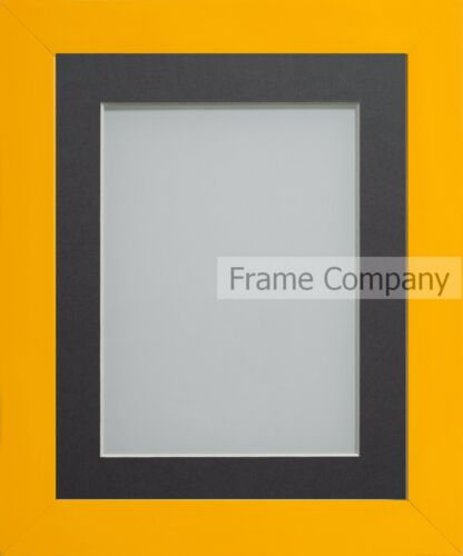 Frame Company Candy Range Dijon Yellow Picture Photo Frames with Choice of Mount