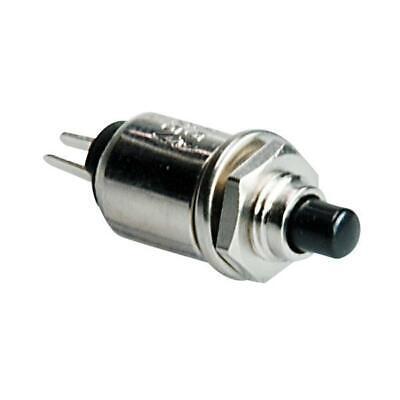pulsante da pannello normalmente aperto NA con tasto nero 3mm 125V 0,5A 12V 7601