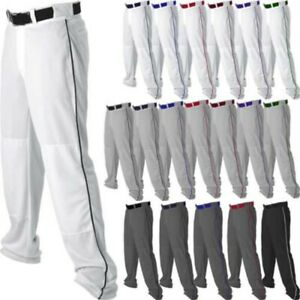 0c62d5f34d0 Alleson Adult Men s Open Bottom Baseball Pants With Piping Braid ...