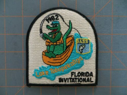 4 x 4 1//4 inch Vintage Bassmaster Tournament Patch 1982 Florida