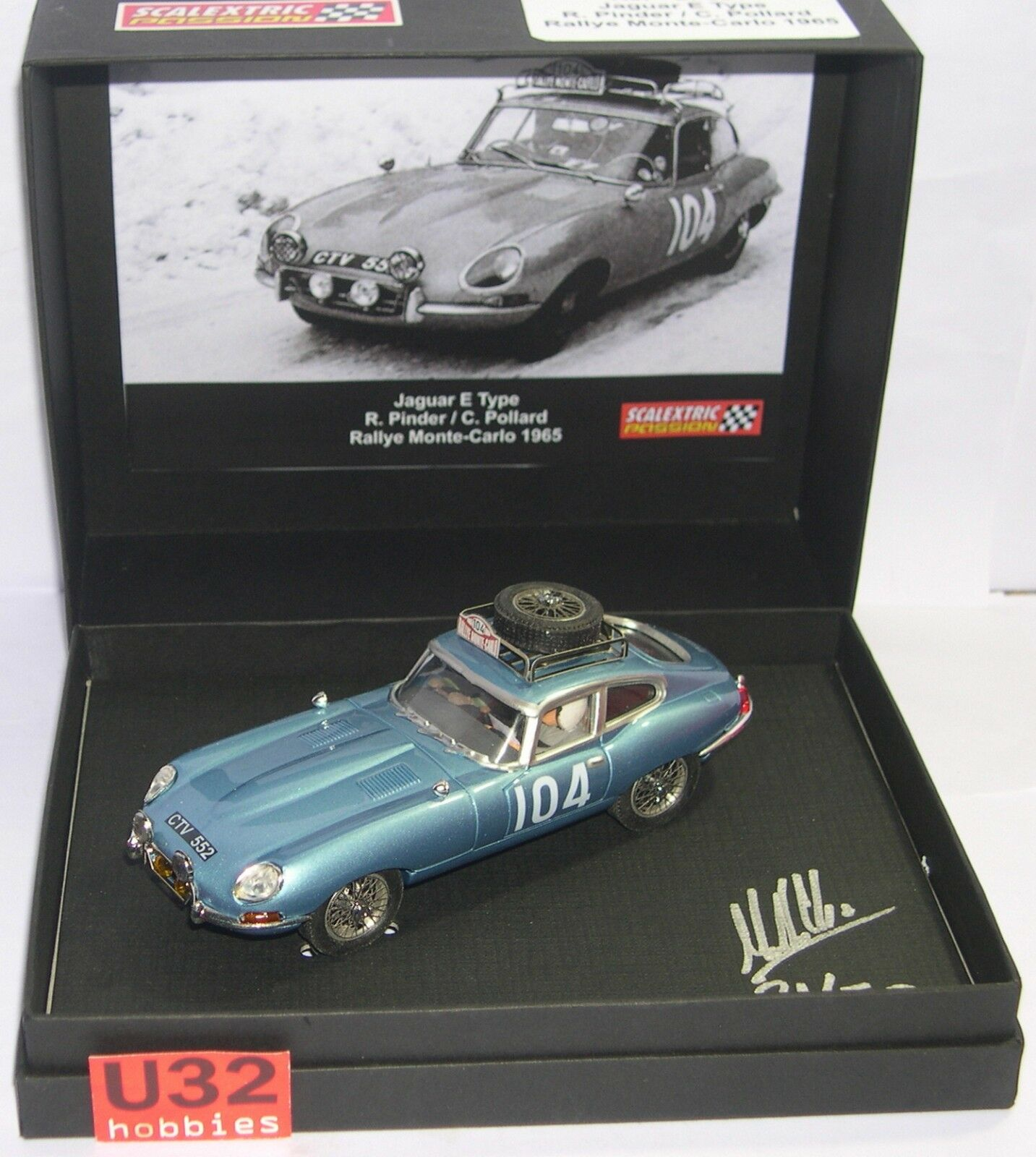 Scalextric Passion Sp031 Sp031 Sp031 Jaguar E Type Rally Monte Carlo 1965 R.pinder 7ed653