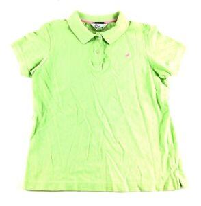 Lilly-Pulitzer-Shrunken-Womens-Green-Short-Sleeve-Polo-Shirt-Size-Medium