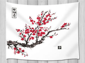 Details About Sakura Cherry Tree Tapestry Wall Hanging For Living Room Bedroom Dorm Decor