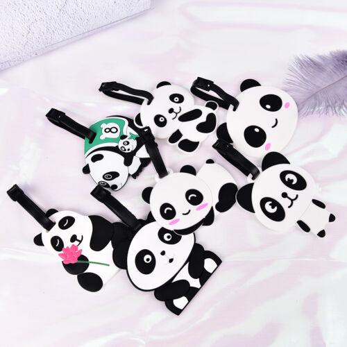 New Cute Panda Bear Luggage Tag Label Suitcase Bag ID Tag Name Address Tag /_TI