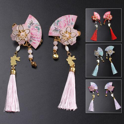 Chinese Style Tassel Hairpin Fan Shape Hair Clip Headdress Accessories Fashion