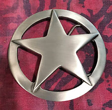 LARGE STAR BADGE BELT BUCKLE NEW