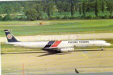 Flying Tigers Douglas DC8-73CF N-4869T at Zurich 1987 Postcard