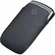 Official BlackBerry Curve 9370 9360 9350 Leather Pocket Case ACC-39404-201 Black