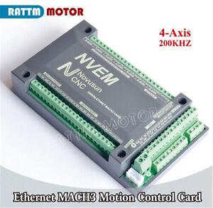 4 Axis 200KHz NVEM Ethernet CNC Mach3 Motion Control Card Controller Board 32VDC