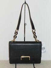 Michael Kors Cynthia Small Shoulder Flap Bag Purse Leather Black