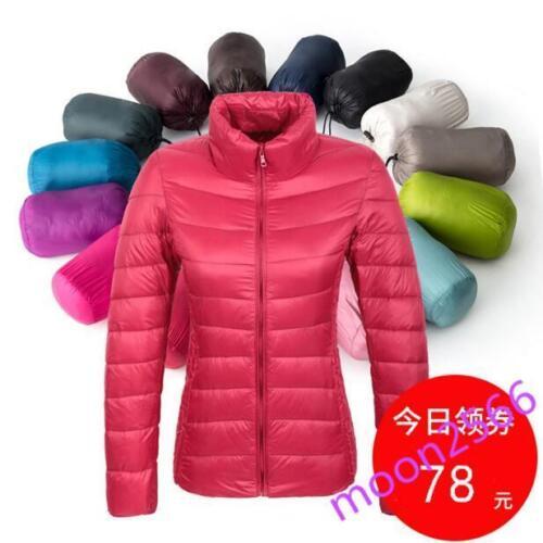 Womens Warm Down Cotton Overcoat Hiking Travel Snowboard Outdoor Casual Coats SZ