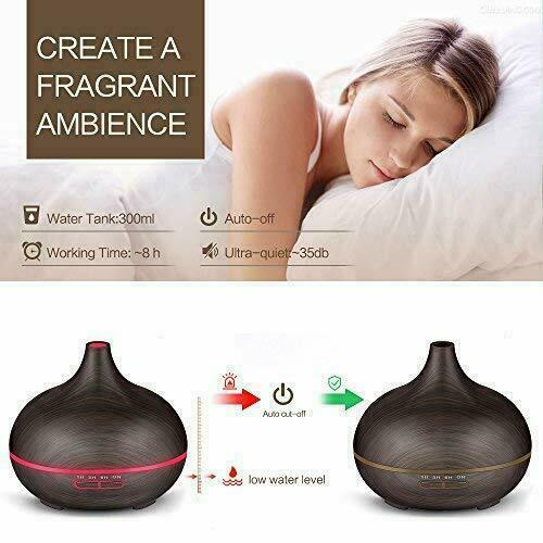 300ml Aroma Humidifier Essential Oil Diffuser Aromatherapy Spa Air Mist Purifier
