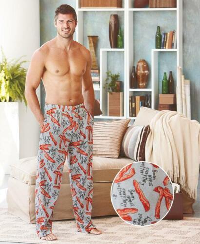 Men/'s Bacon Knit Lounge Pajama Pijama Pants Size XL 40-42