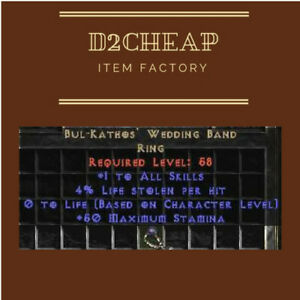 Bul Kathos Wedding Band.Details About Bk Ring 3 4 Bul Kathos Wedding Band Diablo 2 Europe East West Ladder Non