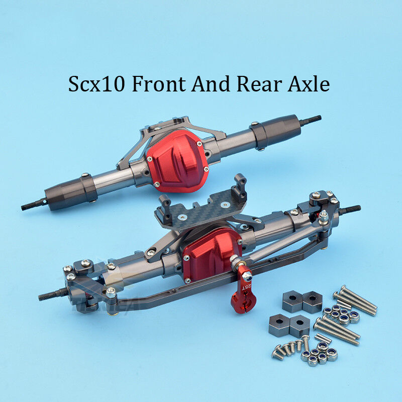 CNC Alloy 1 10 Car Front And Rear Axle for RC Car Crawlers AXIAL SCX10 RC4WD D90