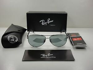 RAY-BAN TECH POLARIZED SUNGLASSES RB8313 004 K6 GUNMETAL SILVER ... 7b3b24b476da