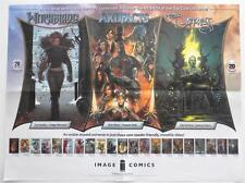 """NEW 2013 SDCC  Witchblade  Artifacts  The Darkness IMAGE Promo Poster  18"""" x 24"""""""
