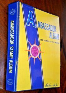 CatalinaStamps:  1977 H.E. Harris Ambassador WW Stamp Album w/2400 Stamps, D371