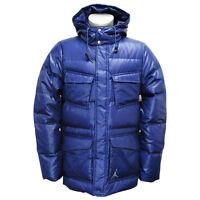 Nike Jordan Mens Military Duck Down Thermore 550 Padded Winter Coat Blue S