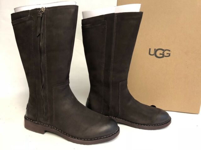 833dc6fa1d4 Ugg Australia Elly Stout Brown Tall Nubuck Boots 1017505 Wool Lined sizes  womens