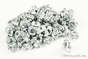 50 Galvanized Zinc Plated Wire Rope Clip Clamp Chain 3/16 Inch M& 7mm