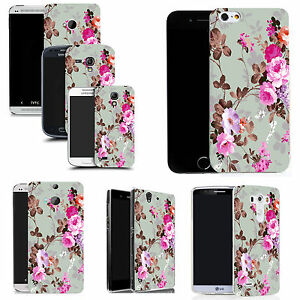 art-case-cover-for-All-popular-Mobile-Phones-pink-rose-silicone